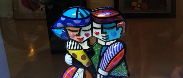 Escultura Romero Britto