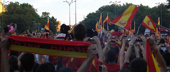multidão Madri