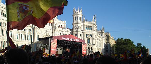 palco Plaza de Cibeles